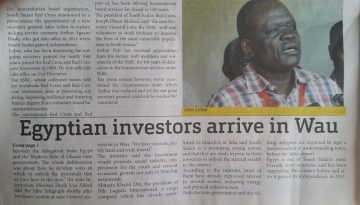 Huge Project handled by Nile Logistics Int'l in WAU in South Sudan on 2012